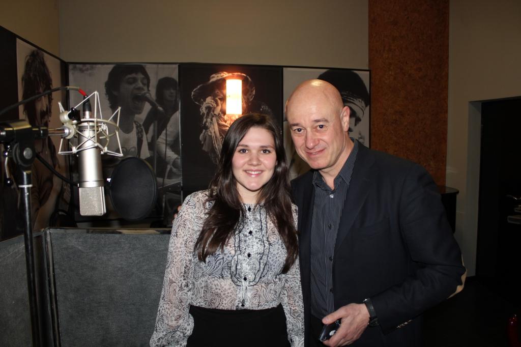 IMG 0564 1024x682 - Дина Гарипова репетирует в нашей студии перед Евровидением