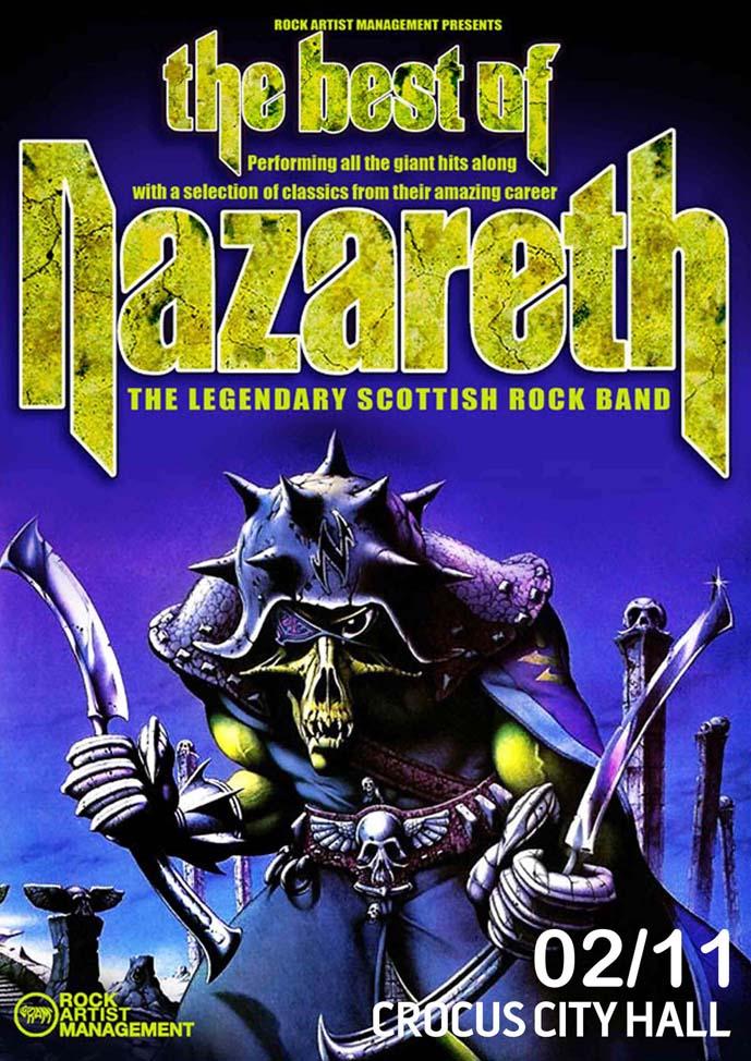 Nazareth media - Легендарные рокеры Nazareth снова выступят в Крокус Сити Холле.