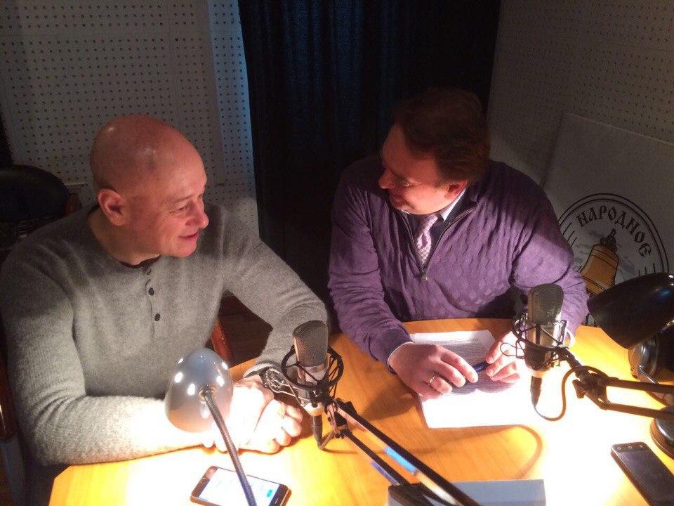 """эфир радио2 - Игорь Сандлер на радио эфире """"Народное радио"""""""