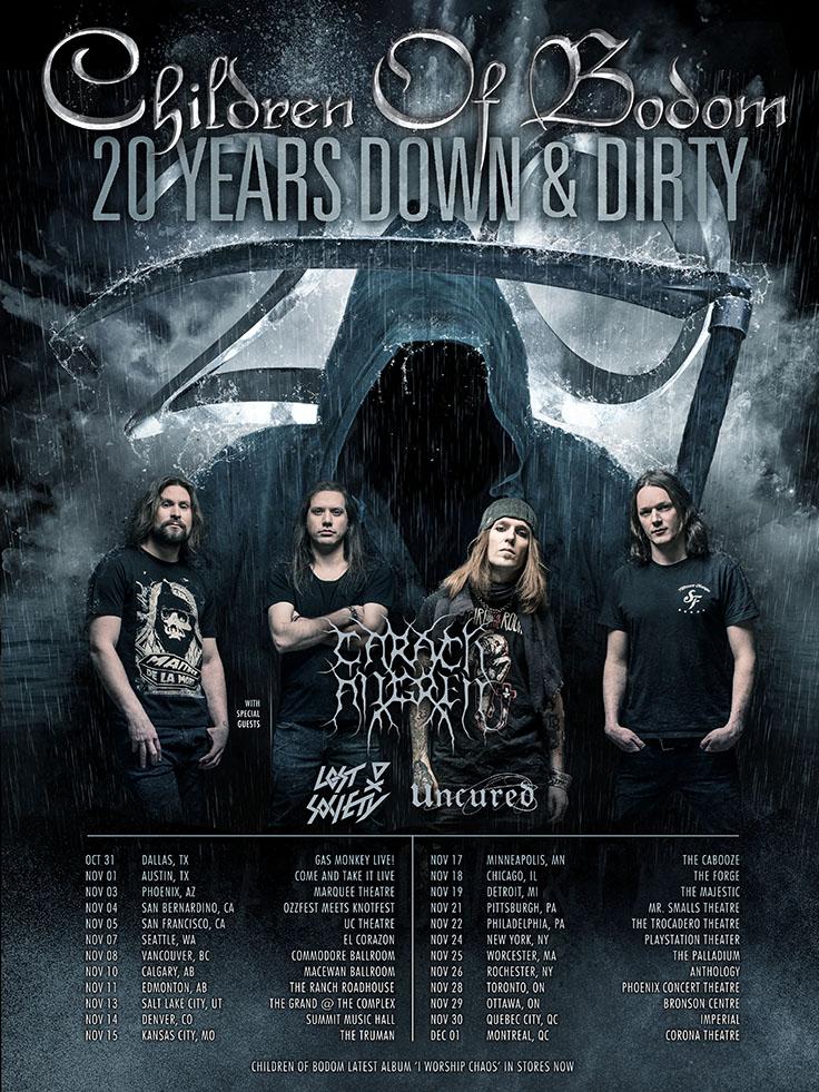 20NA - 16 сентября в клубе Yotaspace выступит легендарная финская метал-группа Children of bodom